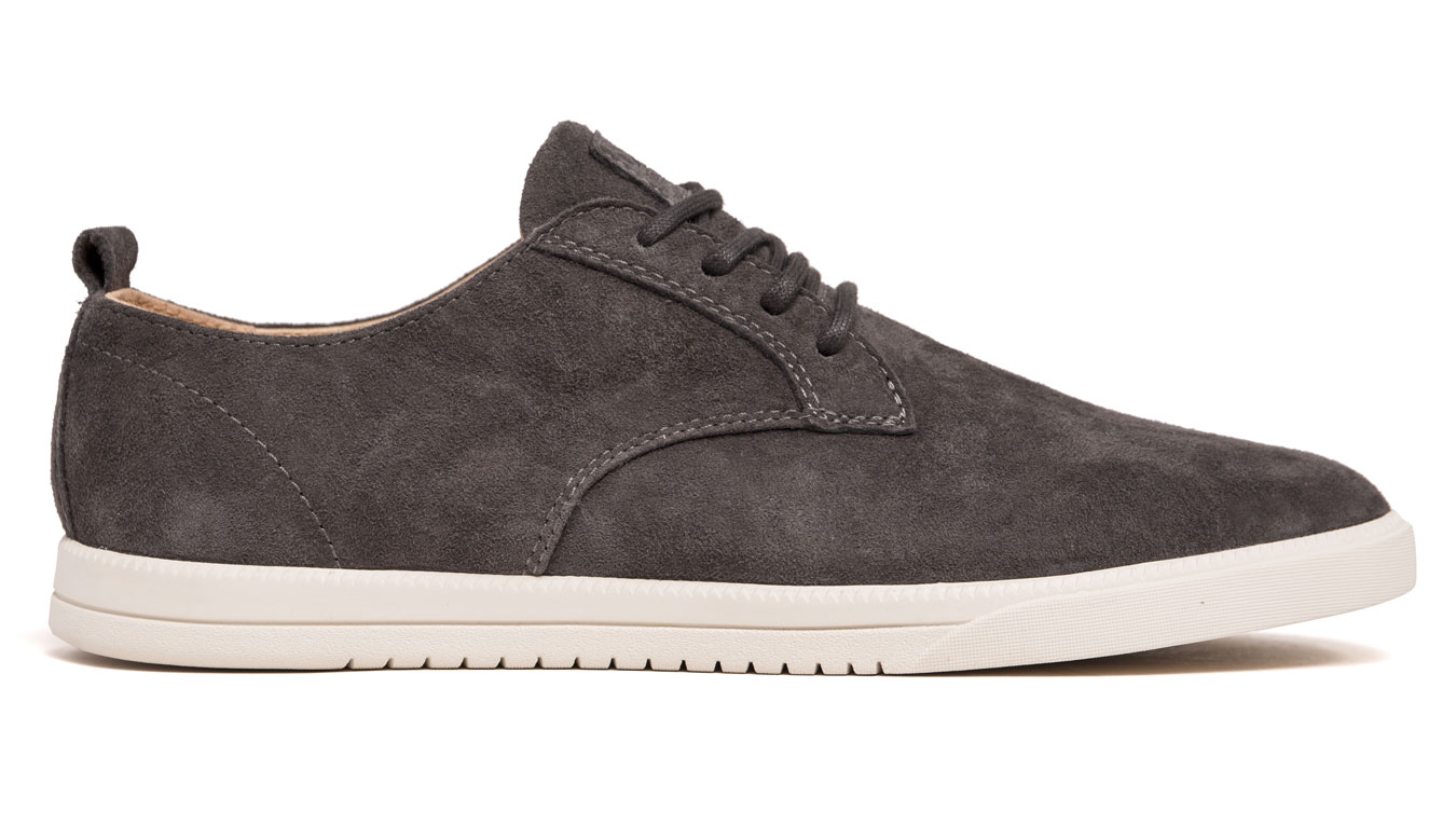 Clae Ellington Dark Charcoal Suede