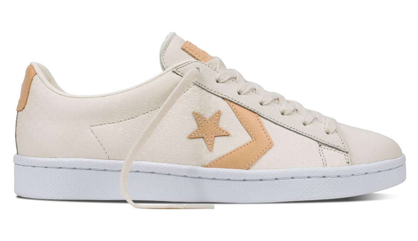 Converse Pro Leather 76 Tumbled Leather Low Top Egret