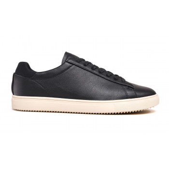 Clae Bradley Black Milled Tumbled Leather
