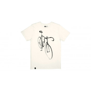 Dedicated T-shirt Stockholm Drawn Bike Off-White