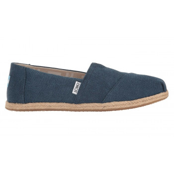 TOMS Navy Washed Canvas Alpargata