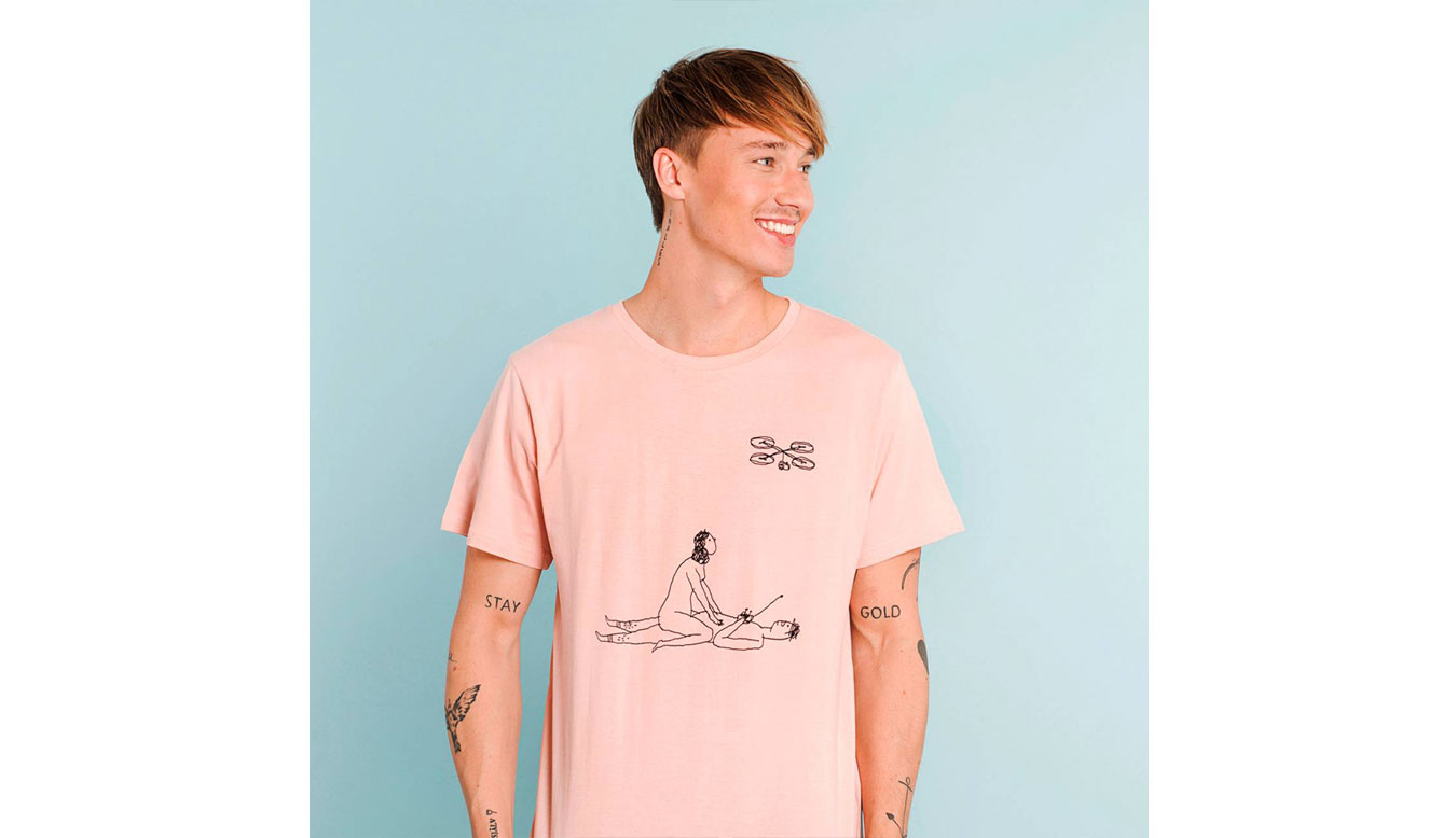 Dedicated T-shirt Stockholm Drone Love Mellow Pink