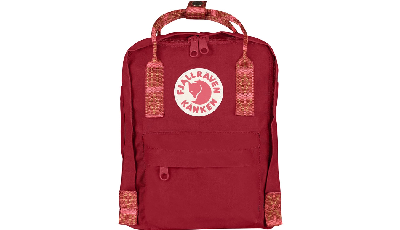 Fjällräven Kånken Mini Kids Deep Red Folk Pattern