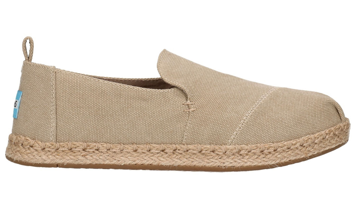TOMS Alpargatas Desert Washed Canvas Deconstructed